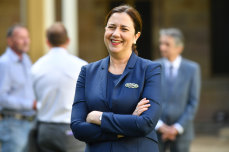 Queensland Premier Annastacia Palaszczuk is seen during a press conference at Queensland.
