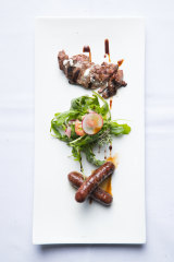 The Lebanese sausage and lamb fillet.