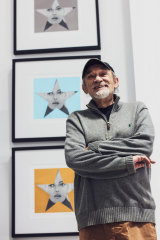 Artist Peter Phillips in his new studio and gallery.