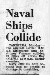 STOP PRESS - Tuesday February 11, 1964, first mention of the disaster in The Age.