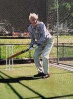 In to bat: Wilcken loved to play and watch cricket.