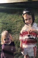 Isaah Yeo as a four-year-old playing for North Ryde along side his sister Ariah.