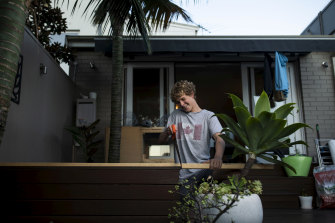 Sydney school student Banjo Studholme is hoping to get an apprenticeship in carpentry or construction.