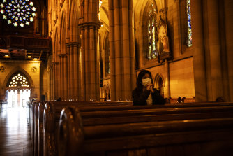 Mass will be held for small groups at Sydney's St Mary's Cathedral and other churches around the state from tomorrow.