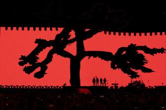 U2 perform at the Sydney Cricket Ground on Friday night.