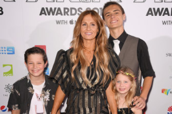 Kasey Chambers made the ARIAs a family affair, attending with her children Arlo, Poet and Talon.