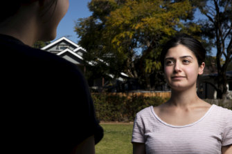 """""""It's not one-size-fits-all"""": Youth development coach Sarah Elfoul (on right) and Shonei, who is in foster care."""