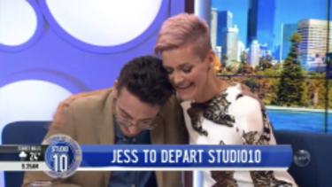 Joe Hildebrand sobbed as Jessica Rowe announced her departure.