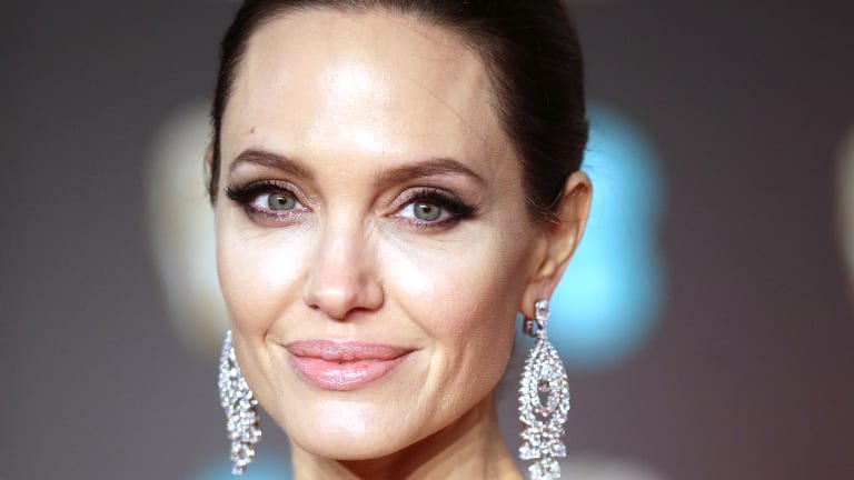 Angelina Jolie arrives at the BAFTA Awards last month.