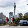 Aucklanders get out following the end of lockdown restrictions.