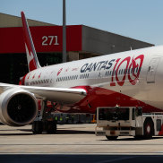 """Qantas's second """"research flight"""" arrives in Sydney on Saturday after flying non-stop from London."""