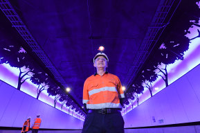 Mechanical and Electrical Manager Charles Giuttari inside the NorthConnex tunnel.