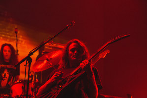 King Gizzard & The Lizard Wizard's Stu Mackenzie at the Forum on Thursday night.