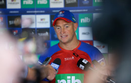 Former Knights coach Nathan Brown will face some early logistical challenges at the Warriors.