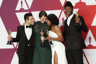 Oscar winners Rami Malek (Bohemian Rhapsody), Olivia Colman (The Favourite), Regina King (If Beale Street Could Talk) and Mahershala Ali (Green Book).