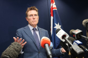 Christian Porter says if he stands down, the rule of law would be worthless
