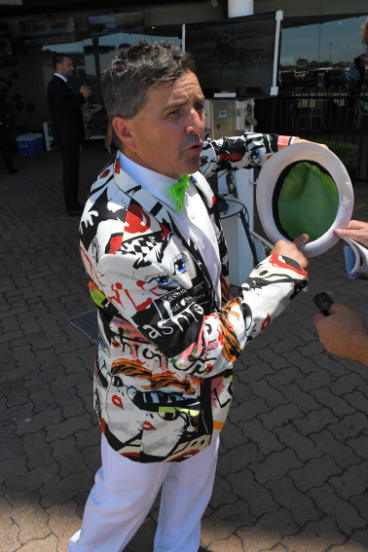 Funky: Neil Paine struts his stuff at Rosehill.