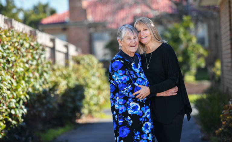 Happy with our lot: Judy Johnston and daughter Loretta Hill say they like Melbourne having a populatiohn of 5 million.