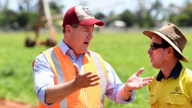 Mr Nicholls has announced the LNP, if elected, will provide an electricity rebate to farmers