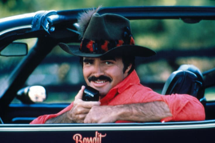 Burt Reynolds in Smokey and the Bandit II (1980).