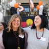 Lou's Place general manager Nicole Yade, right, with the organisation's chair Alexa Haslingden.