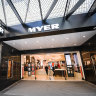 Myer shares surged as its results came through stronger than expected.