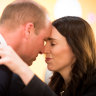 Prince William joins Jacinda Ardern for Anzac Day service