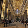 At the height of the UK epidemic, Salisbury's medieval cathedral was used as a COVID-19 vaccination centre.