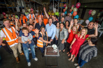 Here's to 60 years: The staff of Everest Ice Cream, in Reservoir, enjoyed a birthday lunch on Thursday.