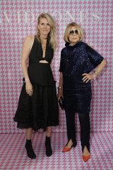 Strike a pose: Kit Willow and Carla Zampatti attend the David Jones launch.