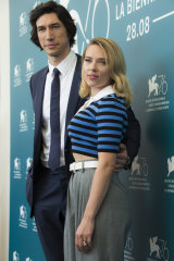 Adam Driver and Scarlett Johansson impressed Marriage Story viewers at Venice.