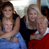 Katie Gillings with her mother Shay and her grandparents Joyce and Vic Parker.