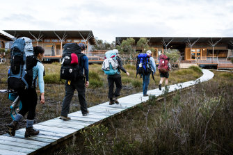 Not your typical bushwalk: one of the camps on the Tasman Peninsula for the Three Capes Walk.