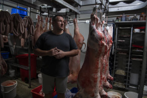 Butcher Jason Funnell says his business may have to close as meat supply dwindles.