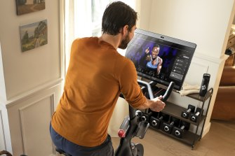 Peloton connects you live with instructors and other users during each session.