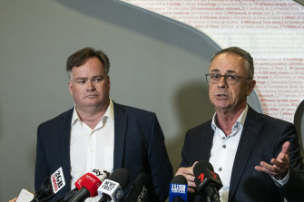 Qantas head of engineering Chris Snook and Qantas Domestic chief executive Andrew David say the affected plans will be back in the air by the end of the year.