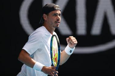 Aussie wildcard falls short of enormous upset after marathon five sets
