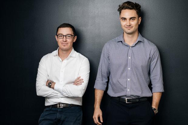 Audeara co-founders Dr James Fielding (left) and Alex Afflick