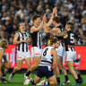 Magpies into preliminary final, but cloud over De Goey