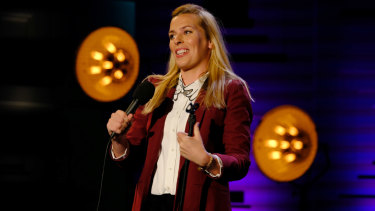 Sara Pascoe stars in Live from the BBC on UKTV.