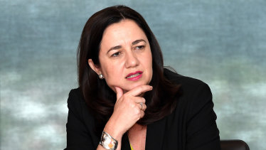 Premier Annastacia Palaszczuk at a meeting with the Local Government Association of Queensland on Monday.