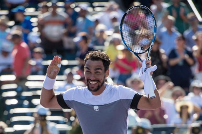 Fabio Fognini was fined for insulting an umpire during the US Open in 2017.