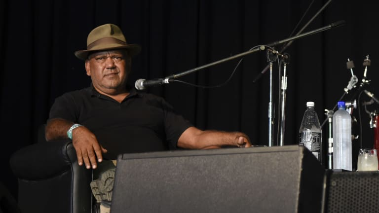 Noel Pearson is interviewed at the Woodford Folk Festival.