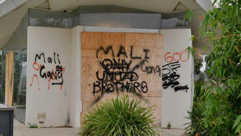 Graffiti at the community park.