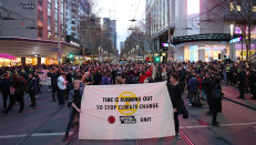 Climate protests like this one in September are becoming a regular occurence in Melbourne.