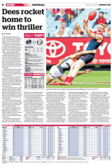 First published in The Age on March 27, 2016 - The match report.