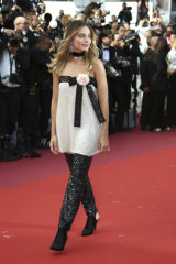 Margot Robbie on the red carpet at Cannes.