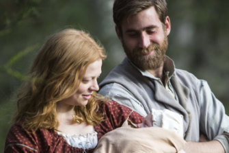 With Oliver Jackson-Cohen in The Secret River.