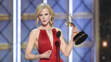 Nicole Kidman was awarded the outstanding lead actress Emmy for her role in Big Little Lies.