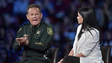 Broward Sheriff Scott Israel makes a point to NRA Spokesperson Dana Loesch during a CNN town hall.